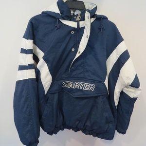 Vintage Starter Men's blue size Large stadium coat